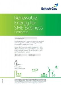 KB Buildings green electricity certificate
